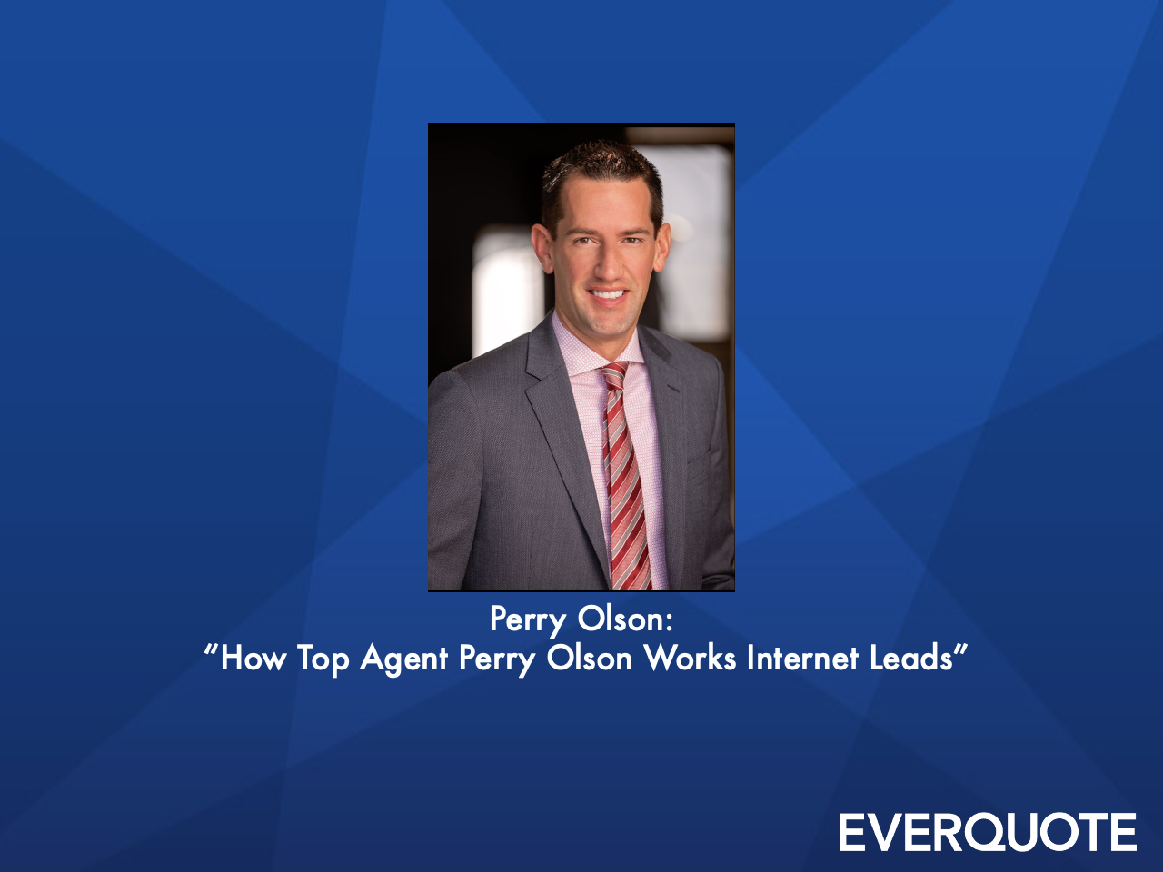 How Top Agent Perry Olson Works Internet Leads with Perry Olson